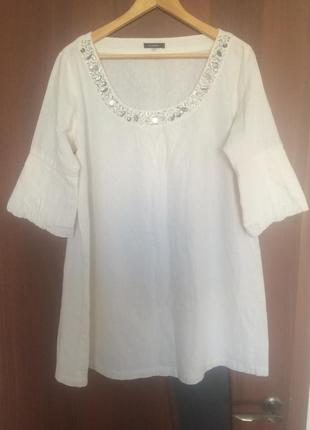 Льняная туника (платье)