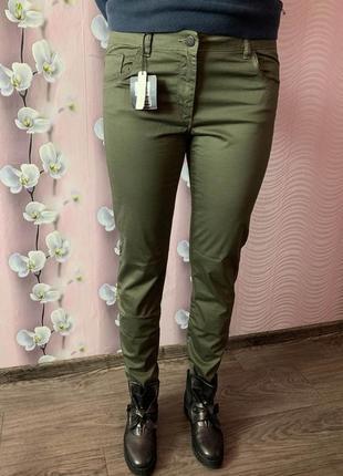 Sale / новые легкие стрейчевые штаны - брюки ovs италия / джинсы хаки mom