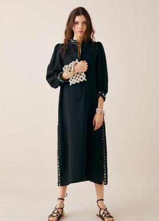 Zara платье лен, s, m
