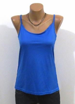 Стильная синяя майка топ размер: 46-м