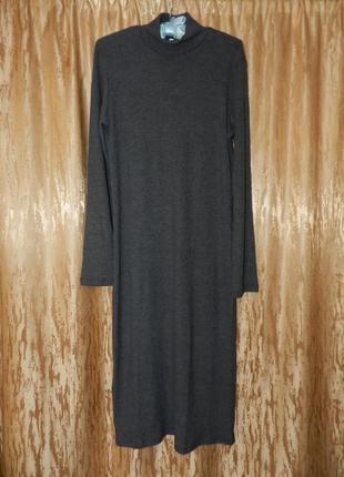 Брендовое трикотажное платье миди ,новое с бирками kikiriki