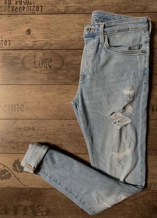 Стрейчеві джинси скінні від h&m
