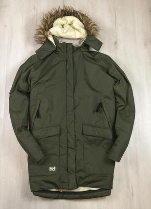 Женская зимняя куртка helly hansen хеллик оливковая