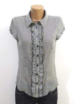 Модная блуза в полоску от h&m идеальна для базового гардероба размер: 44-s, m
