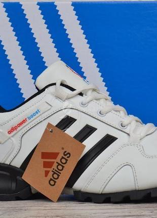 Кроссовки мужские кожаные белые adidas adipower boost вьетнам3 фото
