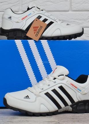 Кроссовки мужские кожаные белые adidas adipower boost вьетнам7 фото