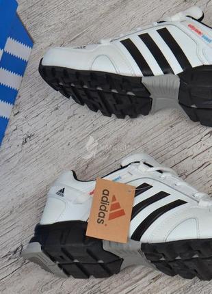 Кроссовки мужские кожаные белые adidas adipower boost вьетнам8 фото