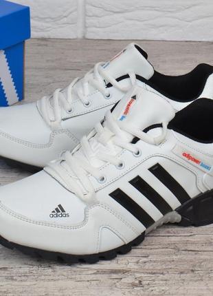 Кроссовки мужские кожаные белые adidas adipower boost вьетнам9 фото
