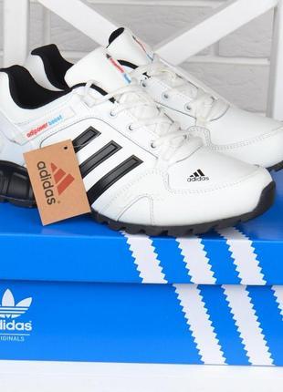 Кроссовки мужские кожаные белые adidas adipower boost вьетнам