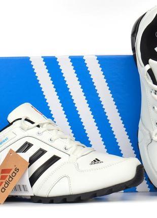 Кроссовки мужские кожаные белые adidas adipower boost вьетнам10 фото