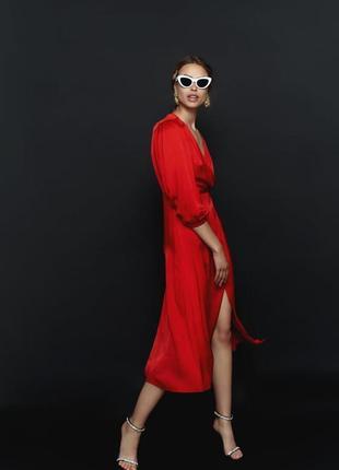 Zara красное платье , м