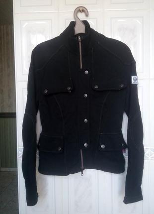 Котоновая куртка брендовая belstaff мото