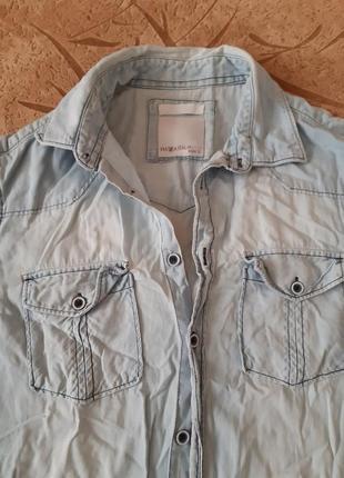 Мужская джинсовая рубашка италия