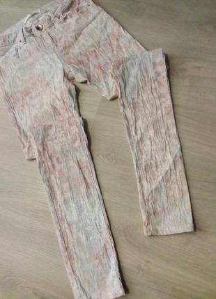 Брендовые брюки принт