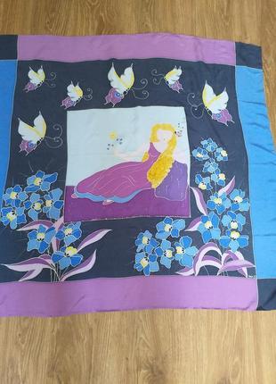 Sisi  vintage подписной шелковый платок