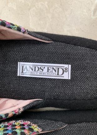 Тапочки lands' end с разноцветной жаккардовой тканью домашние4 фото