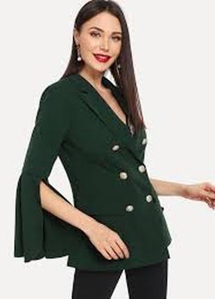 Актуальный двубортный пиджак жакет блейзер №11