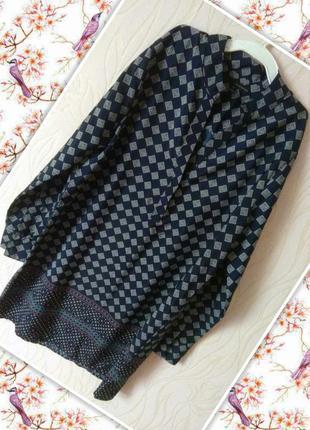 Лёгкое из плотного шифона брендовое платье-рубашка harve benard