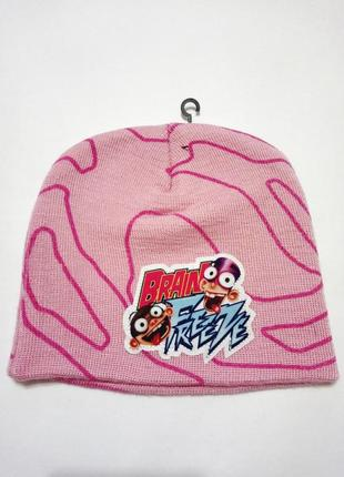 Розовая шапка nickelodeon