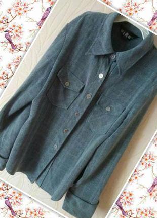 Стильная серая рубашка в клетку в стиле levis