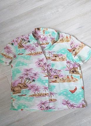 Гавайская рубашка levi's с коротким рукавом