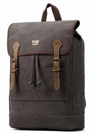 Troop. англия. фирменный рюкзак с элементами натуральной кожи.