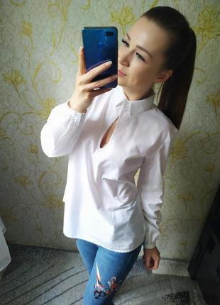 Красивенная натуральная белая блузка