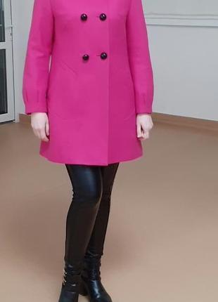 Демисещонное пальто, яркое пальто,розовое пальто,пальто на осень весну