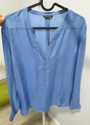 Натуральная шелковая блуза 100% шелк массимо дутти