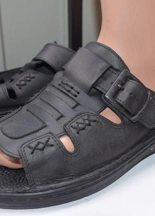 Кожаные шлепанцы шлепки сланцы тапки сандали