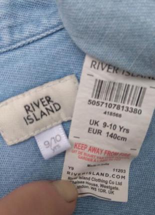 Рубашка river island 9-10 лет 134-140 см6 фото