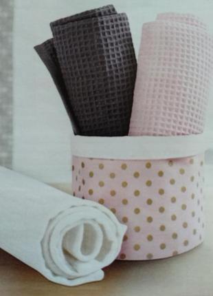 Набор из трёх вафельных полотенец