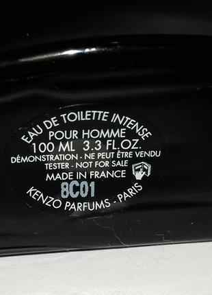 Kenzo l´eau kenzo intense pour homme туалетная вода 100 ml тестер3 фото