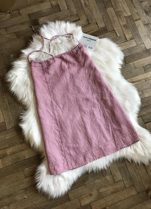 Льняная юбка h&m