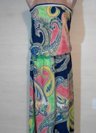 Летний натуральный сарафан платье турция