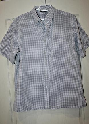 Качественная мужская рубашка в клетку