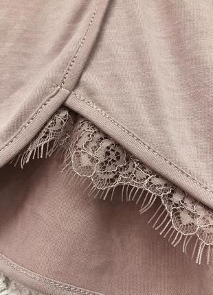 Нюдовые шорты с кружевом new look очень классные3 фото
