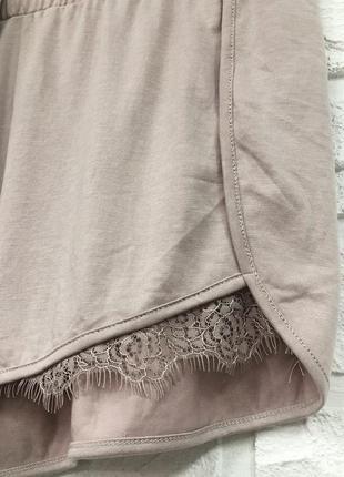 Нюдовые шорты с кружевом new look очень классные4 фото