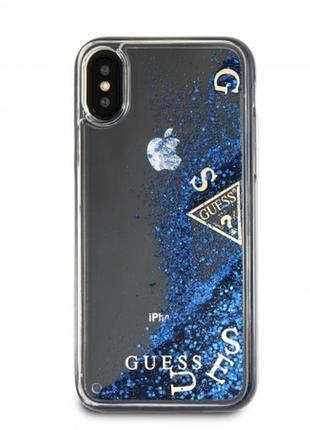 Guess iphone xr glitter кристаллы оригинал! брендовый чехол для айфона