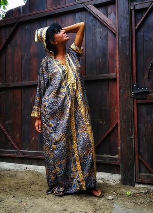 Платье индия этно в индийском стиле с капюшоном сверкающее длинное прямое1 фото