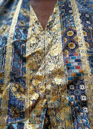 Платье индия этно в индийском стиле с капюшоном сверкающее длинное прямое7 фото