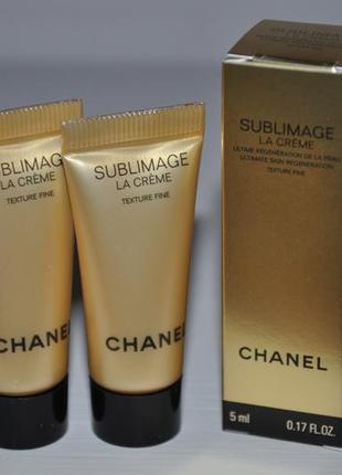 Антивозрастной крем легкая текстура chanel sublimage la creme texture fine (мини)