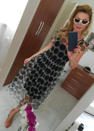 Самое стильное платье-сетка из италии2019