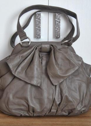 Кожаная сумка monsoon / шкіряна сумка