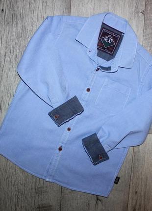 Рубашка нарядная стильная голубая некст next 6 лет, рост 116 см.