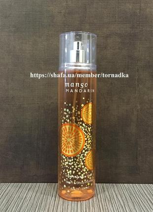 Мист (спрей) для тела bath & body works - mango mandarin