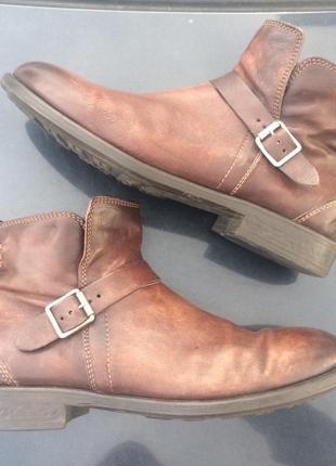 Ботинки кожаные lavorazione artigionale италия