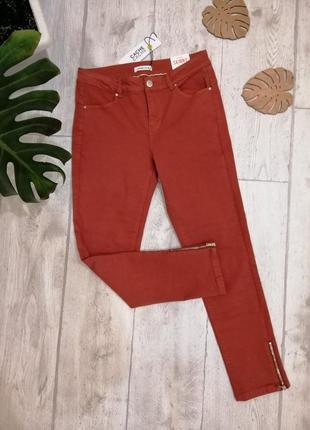 """Цену снижено!! джинсы, брюки коттоновые шикарного кирпичного цвета """"cache cache"""""""