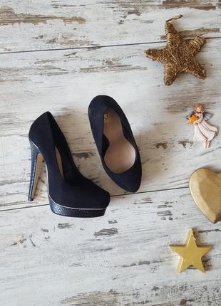 Туфли замшевые элегантные шикарные
