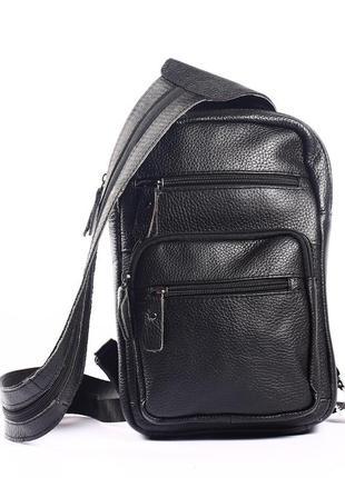 Кожаный мини-рюкзак, сумка на грудь